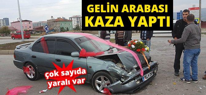 Samsun'da Gelin Arabası Otomobil İle Çarpıştı: 6 Yaralı
