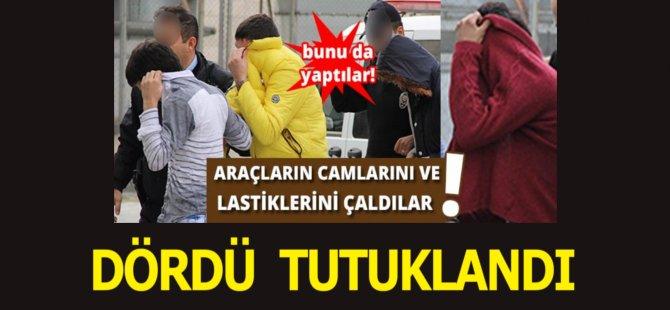 Samsun'da Park Halindeki Araçların Camlarını Ve Lastiklerini Çalan 4 Kişi Tutuklandı