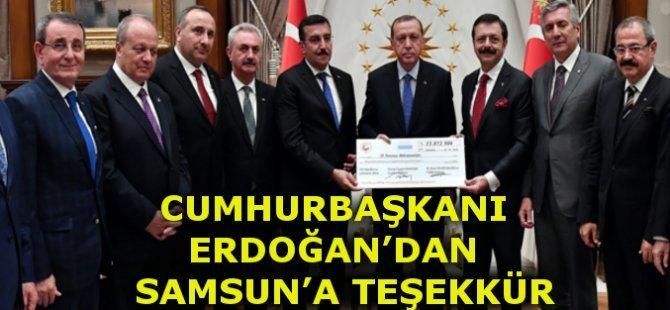 Cumhurbaşkanı Erdoğan'dan Samsun'a 15 Temmuz Teşekkürü