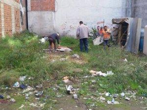 Samsun Terme'de İnşaat Atıkları ve Molozlar Temizleniyor