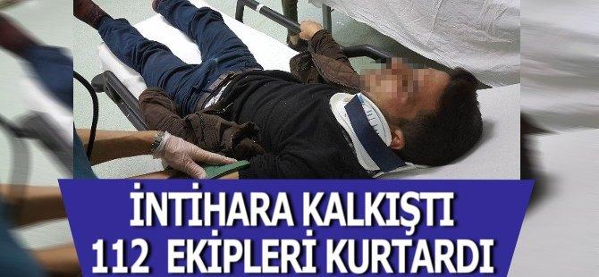 Samsun'da Kendini Asan Genci İpten 112 Ekibi Kurtardı