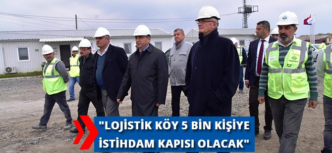 """Samsun Büyükşehir Belediye Başkanı Yılmaz, """"Lojistik Köy 5 Bin Kişiye İstihdam Kapısı Olacak"""""""