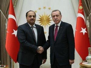 Cumhurbaşkanı Erdoğan Katar Devlet Bakanı El-atiye'yi Kabul Etti