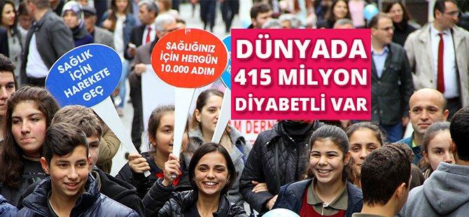 Samsun'da Diyabete Farkındalık İçin Yürüdüler