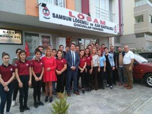 Samsun'da Lösemili Çocuklara Anlamlı Ziyaret