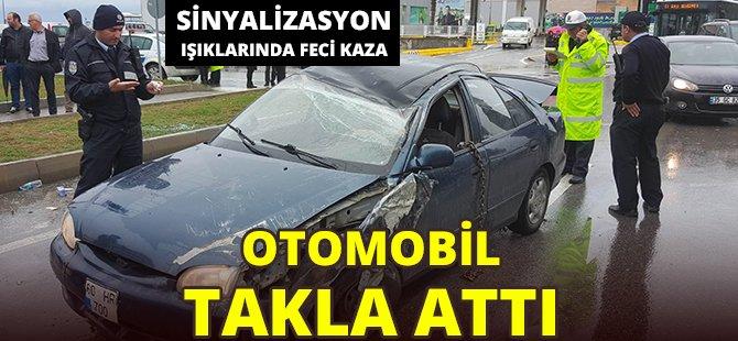 Samsun'da Sinyalizasyon Işıklarında Kaza, 3 Yaralı