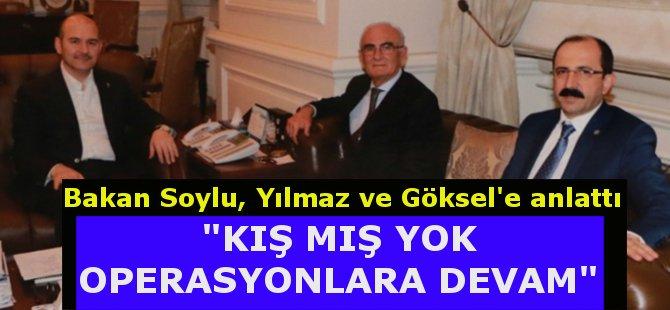 AK Parti Samsun İl Başkanı Göksel ve Büyükşehir Belediye Başkanı Yılmaz'dan İçişleri Bakanı Süleyman Soylu'ya Ziyaret