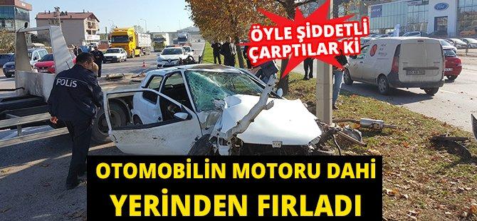 Samsun'da Otomobil Ağaca Çarptı: 2 Yaralı