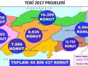 TOKİ'den 2017'de 65 Bin Konut Hedefi
