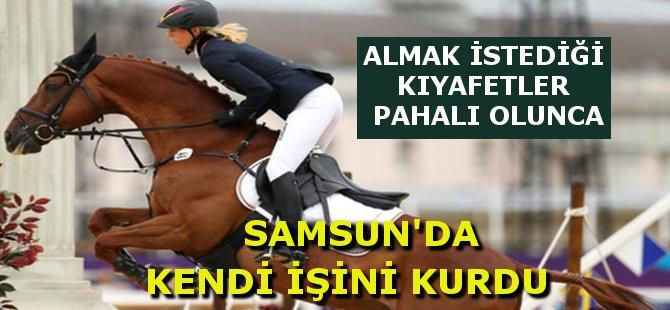 Samsun'da Kadın Girişimci At ve Biniciler İçin Özel Kıyafetler Dikiyor