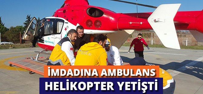 Samsun'da Düşerek Kalça Kemiğini Kıran Kadının Yardımına Ambulans Helikopter Yetişti