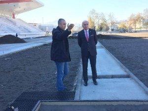 Samsun Valisi Şahin, Atletizm Stadyum Kompleks'ini İnceledi
