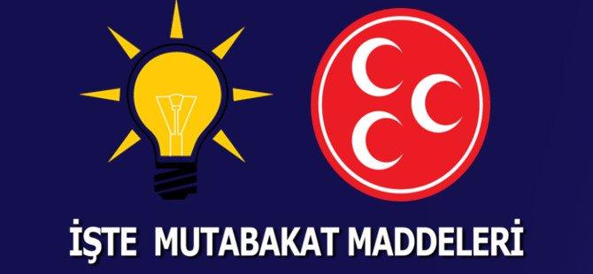 İşte AK Parti - MHP Mutabakat Maddeleri