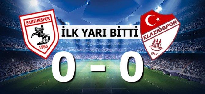 Samsunspor Elazığspor Karşılaşmasının İlk Yarısı 0-0 Bitti