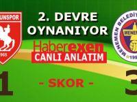 Samsunspor 1 - Menemen Belediyespor 3