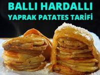 Ballı Hardallı Yaprak Patates Tarifi