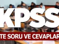 KPSS Soruları Ve Cevapları Yayınlandı!
