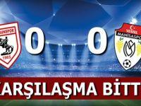Manisaspor Samsunspor Karşılaşması 0-0 Bitti