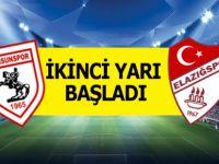 Samsunspor Elazığspor Karşılaşmasının İkinci Yarısı Başladı