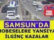 Samsun'da Trafik Kazaları Mobese Kameralarına Yansıdı