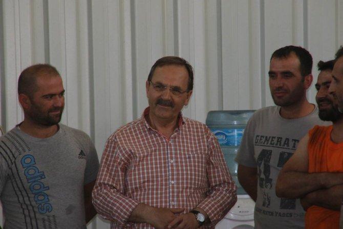 Samsun Bafra Belediye Başkanı Şahin, Osb'de İncelemelerde Bulundu