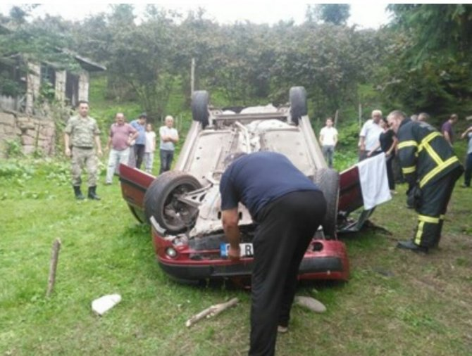 Ordu'da Otomobil Takla Attı: 1 Ölü, 1 Yaralı