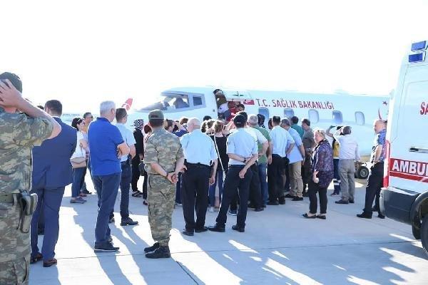 Giresun'da Yaralanan Polis Ambulans Uçakla Ankara'ya Götürüldü