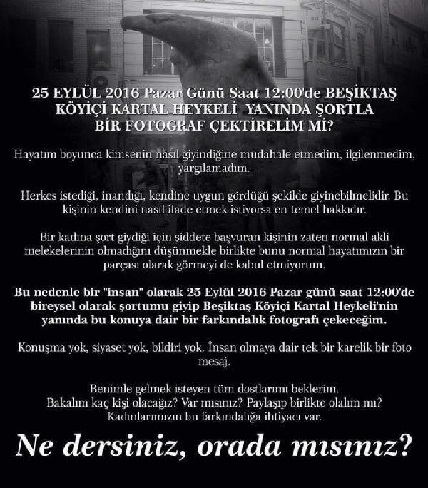 İstanbul'da Erkekler Ayşegül Terzi İçin Şortlu Eylem Yapacak