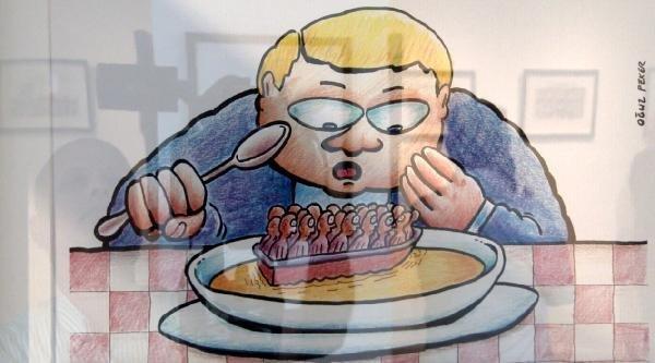 Avrupa'da Mültecilerin Dramını Anlatan Karikatür Sergisi