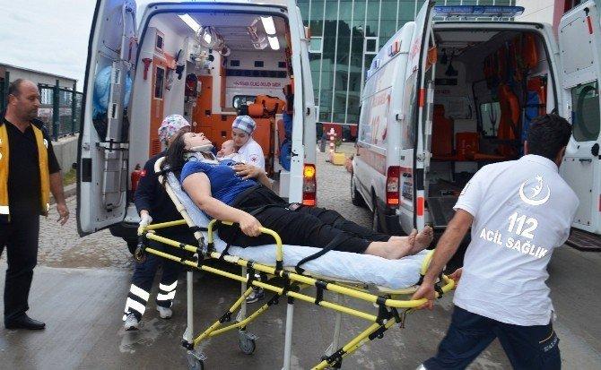 Ordu'da Otomobil Su Kanalına Düştü: 5 Yaralı