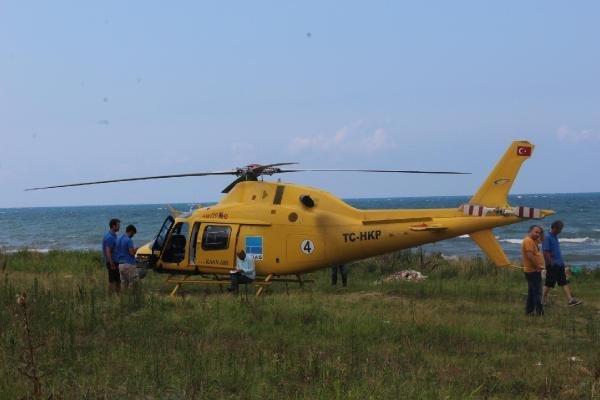 Yakıtı Azalan Helikopter Ordu'ya Mecburi İniş Yaptı