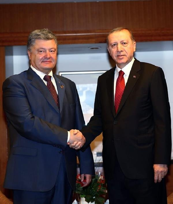 Cumhurbaşkanı Erdoğan, Poroşenko İle Görüştü