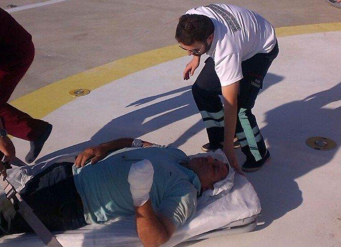 Samsun'da Kopan Parmakları Ambulans Helikopter İle Hastaneye Yetiştirildi
