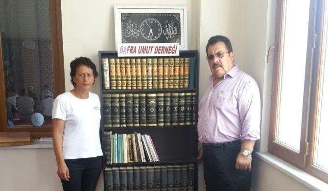 Samsun'un Bafra İlçesi'nde Camiye Kütüphane Yapıldı