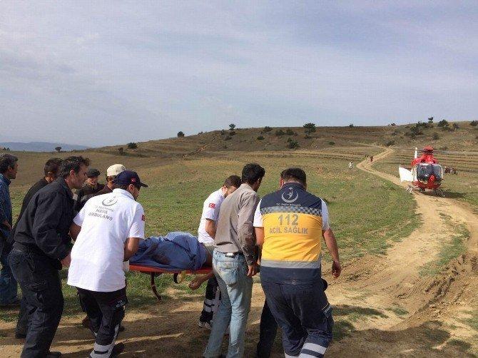 Samsun'da Ambulans Helikopter Vurulan Çoban İçin Havalandı