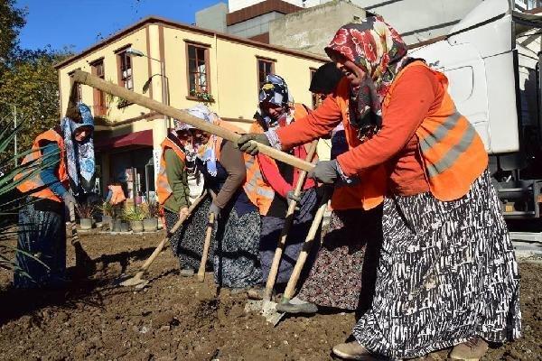 Samsun'da Çevre Düzenlemesine Kadın Eli