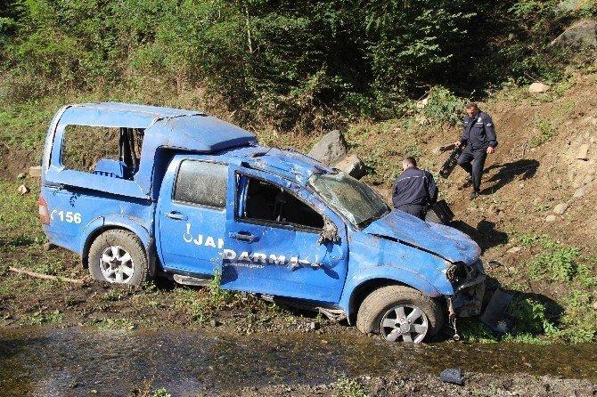 Samsun'da Askeri Araç Uçuruma Yuvarlandı: 2 Asker Yaralı