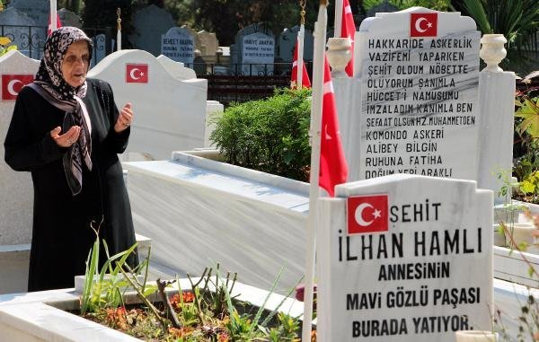 Samsun'da Arife Günü Şehitlikler Ziyaretçi Akınına Uğradı