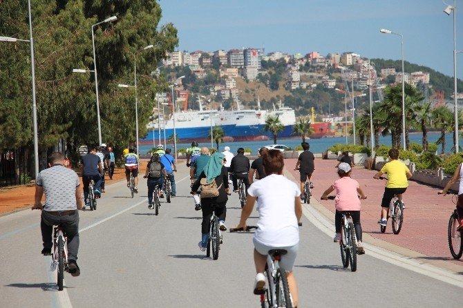 Samsun'da 'Sağlıklı Yaşam' İçin Pedal Çevirdiler
