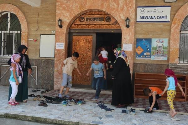 Samsun'da Camilerde Çocuklar İçin Oyun Alanı Yapıldı