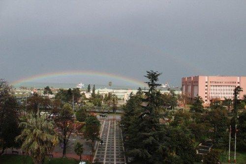 Samsun'da Gökkuşağı Güzelliği