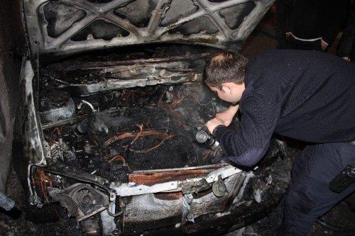 Samsun'da Şüpheli Araç Yangını