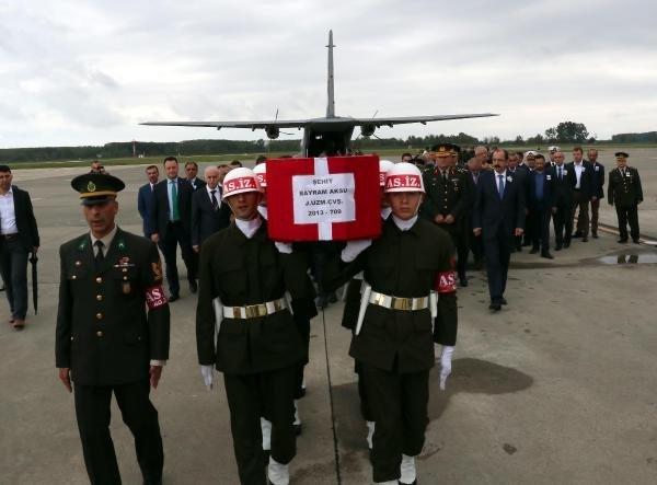 Şehit Uzman Çavuş Bayram Aksu, Memleketi Samsun'da Gözyaşlarıyla Karşılandı