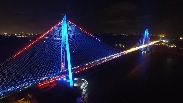 Yavuz Sultan Selim Köprüsü Geceleri Bir Başka Güzel